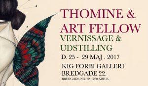 Thomine & Art Fellow Vernissage & Udstilling